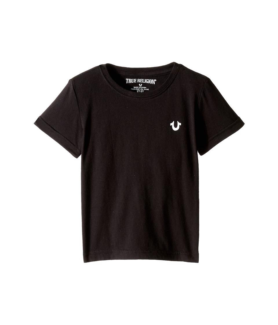 True Religion Kids - Branded Logo Tee Shirt (Toddler/Little Kids) (Black) Boy's T Shirt