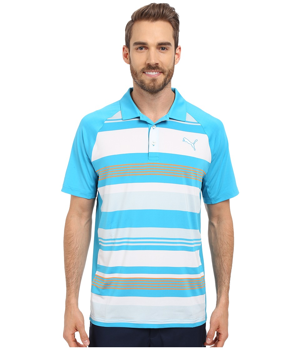PUMA Golf - GT Roadmap Polo (Atomic Blue) Men's Clothing