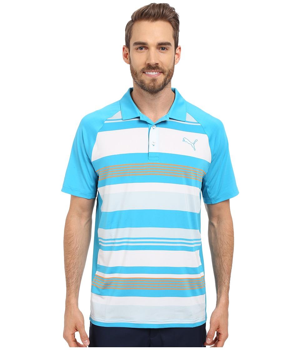 PUMA Golf - GT Roadmap Polo (Atomic Blue) Men's Clothing