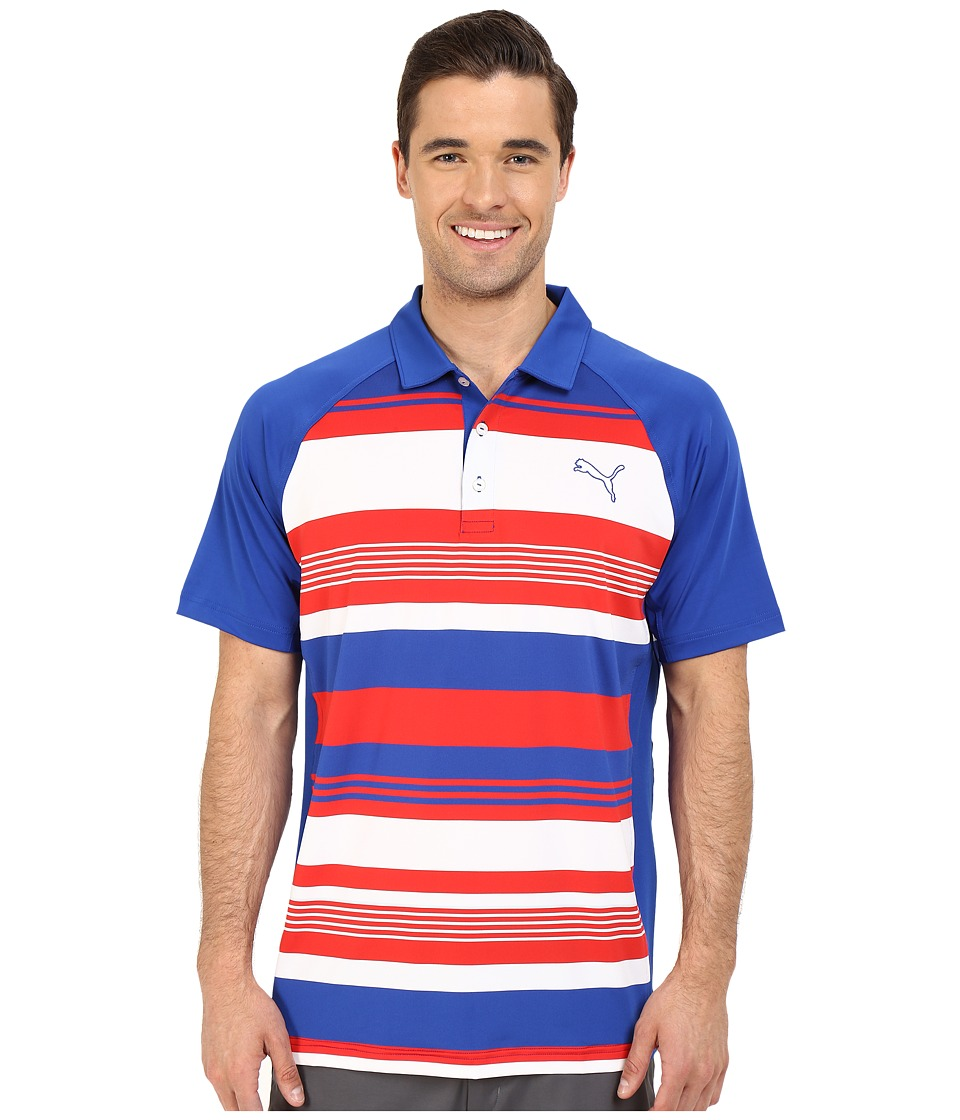 PUMA Golf - GT Roadmap Polo (Surf The Web) Men's Clothing