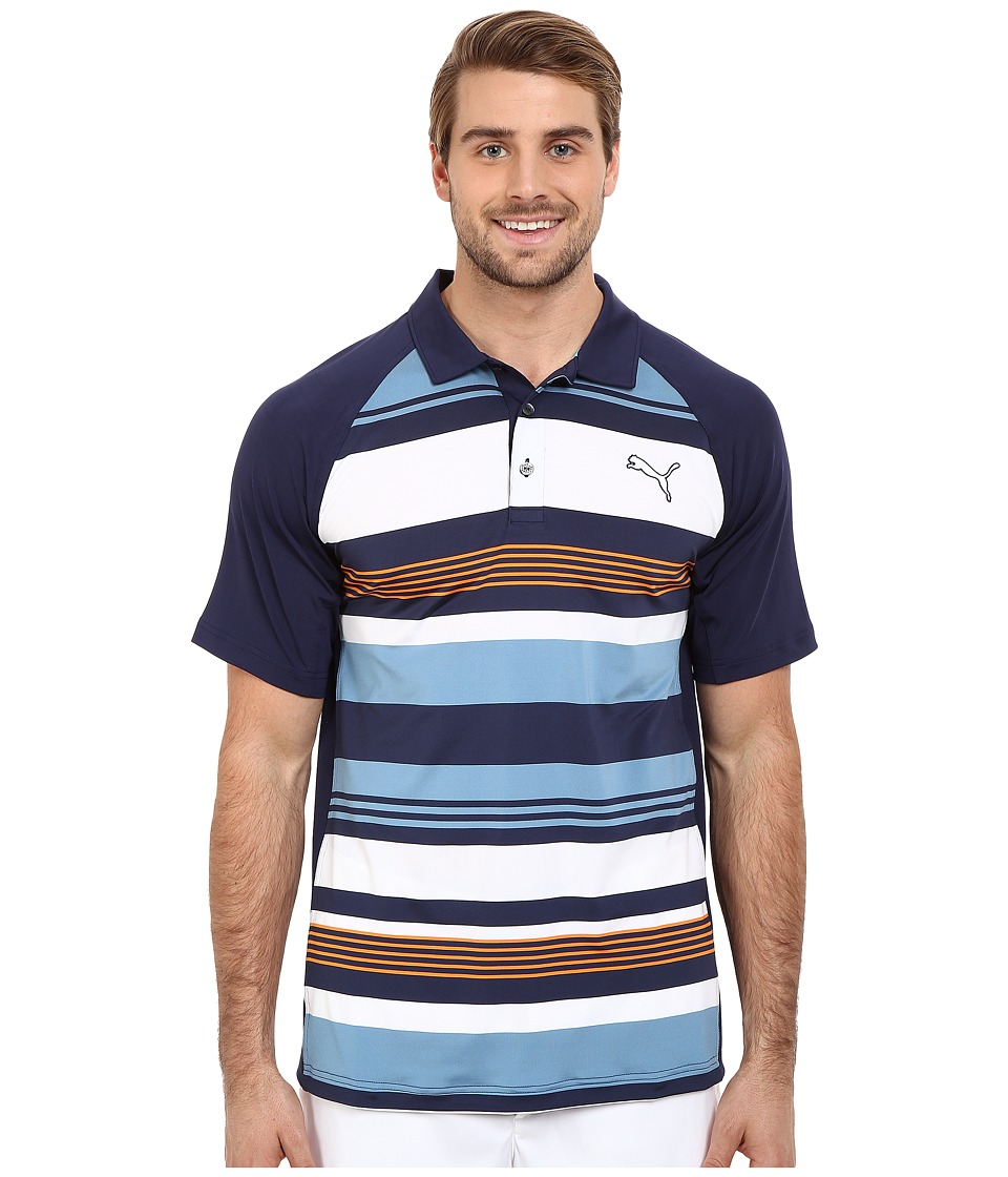 PUMA Golf - GT Roadmap Polo (Peacoat) Men's Clothing