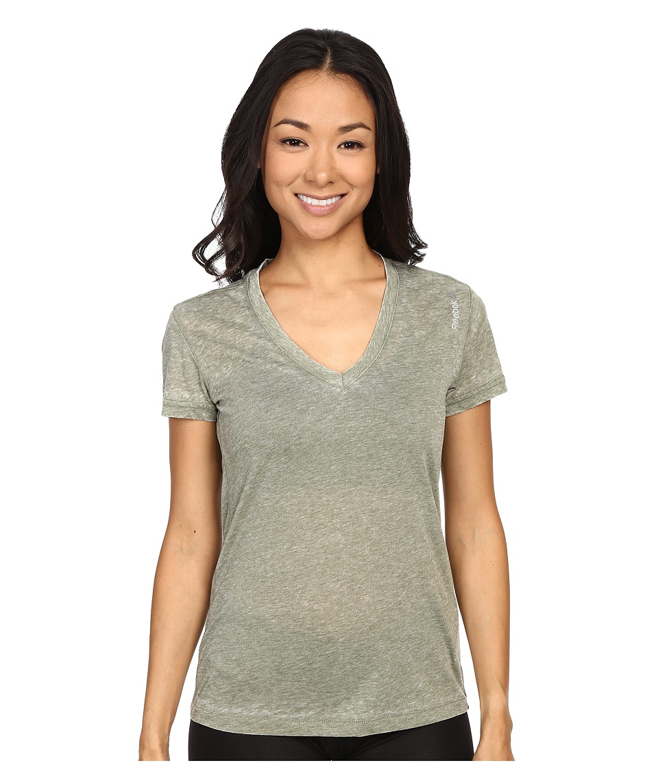 Reebok - Studio Favorites Burnout Tee (Canopy Green) Women's T Shirt