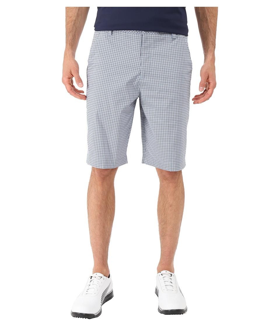 PUMA Golf - Plaid Shorts (Peacoat) Men's Shorts