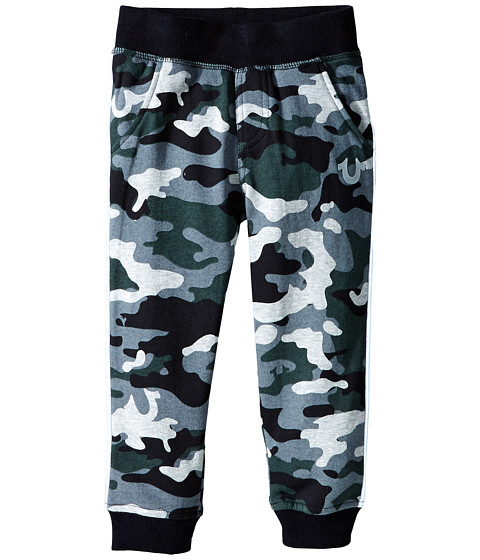 True Religion Kids - Camo French Terry Pants (Toddler/Little Kids) (Grey Camo) Boy's Casual Pants
