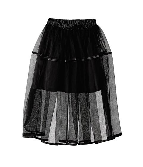 Marciano Kids - Shari Mesh Skirt w/ Faux Leather (Big Kids) (Black) Girl