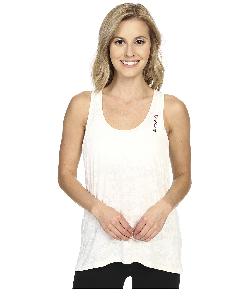 Reebok - One Series Burnout Tank Top (Chalk) Women's Sleeveless