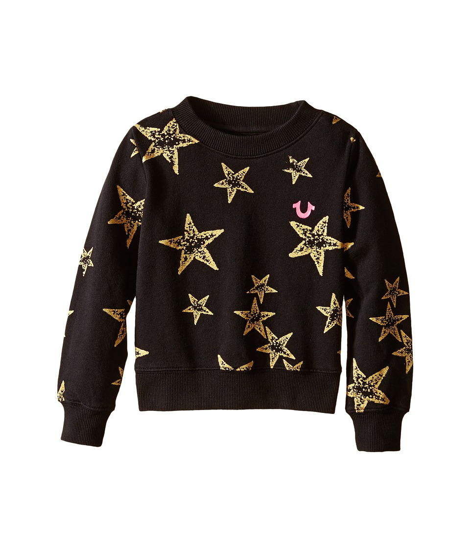True Religion Kids - Star Graphic Sweatshirt (Toddler/Little Kids) (Black) Girl