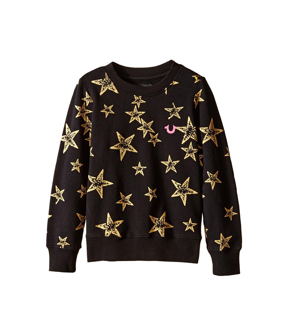 True Religion Kids - Star Graphic Sweatshirt (Big Kids) (Black) Girl's Sweatshirt