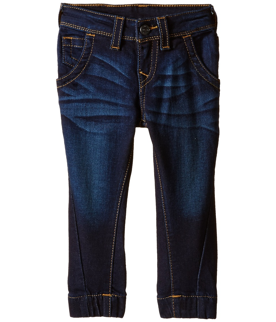 True Religion Kids - Indigo French Terry Pants (Toddler/Little Kids) (Medium Indigo) Boy's Jeans