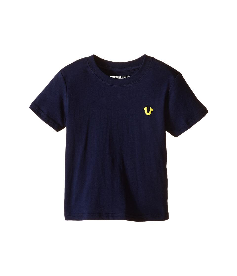 True Religion Kids - Buddha Puff Logo Tee Shirt (Toddler/Little Kids) (Midnight) Boy's T Shirt