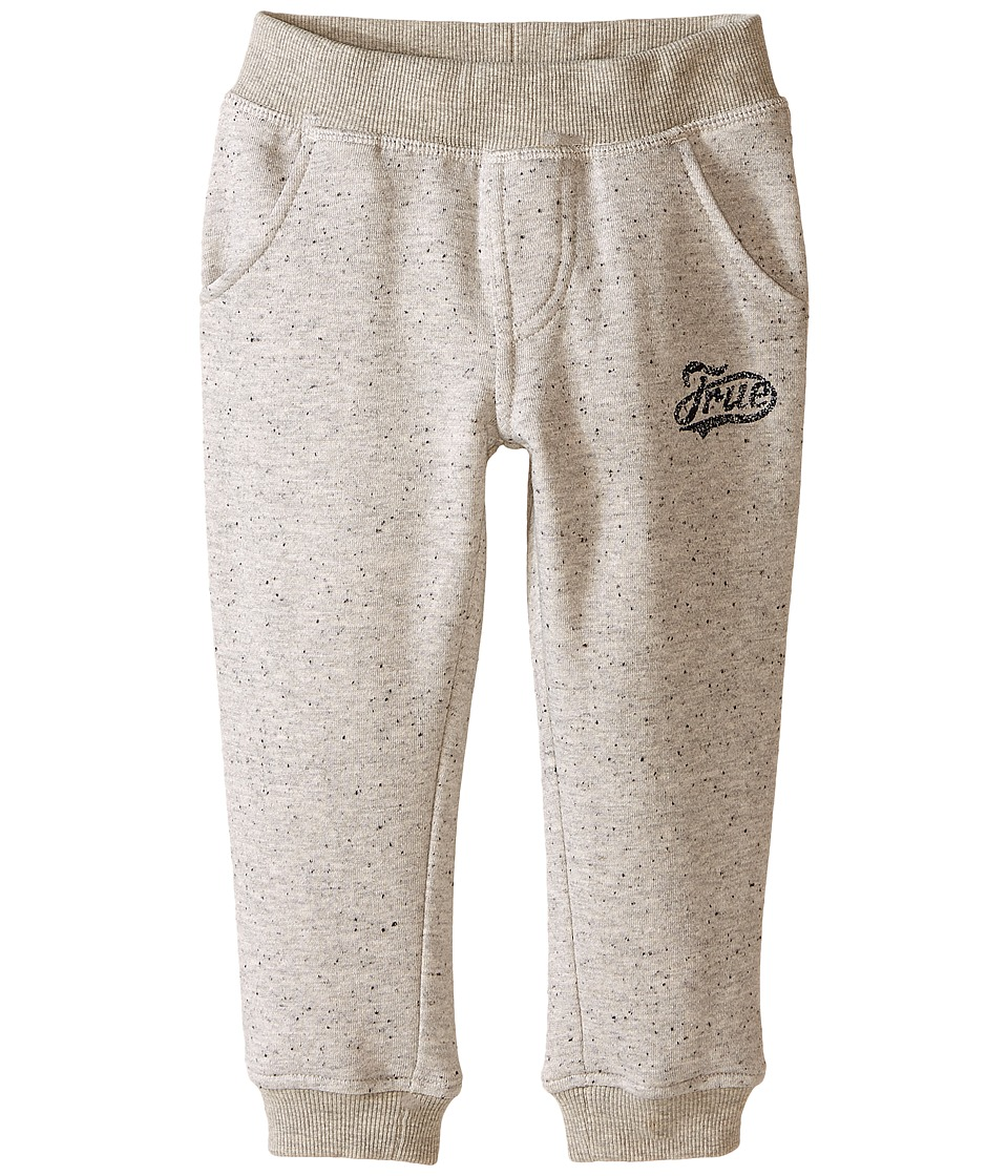 True Religion Kids - Fleece Sweatpants (Toddler/Little Kids) (Heather Grey) Boy's Casual Pants