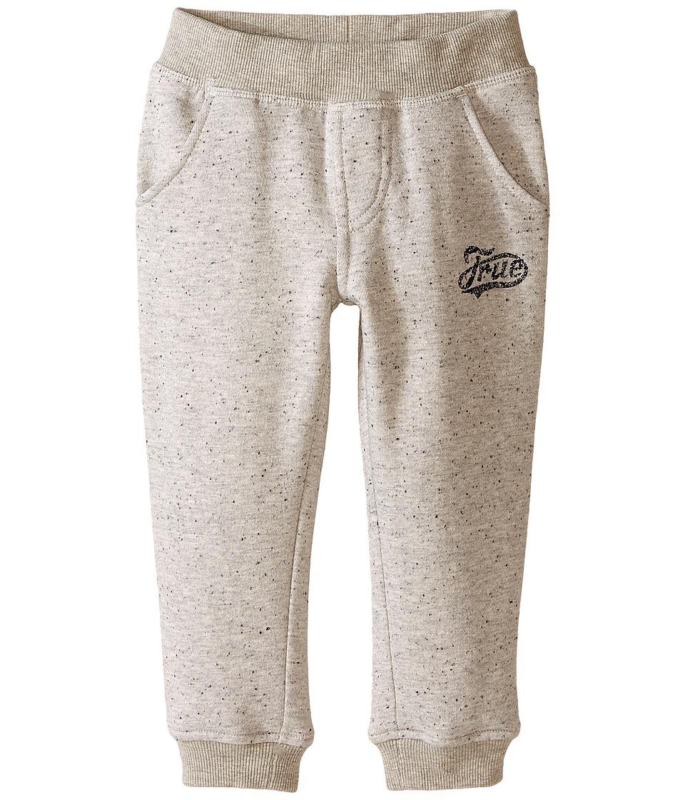 True Religion Kids - Fleece Sweatpants (Toddler/Little Kids) (Heather Grey) Boy's Casual Pants