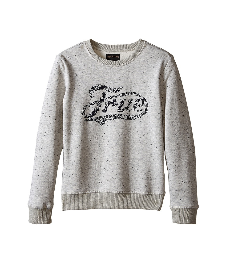 True Religion Kids - Fleece Crew Neck Sweatshirt (Big Kids) (Heather Grey) Boy