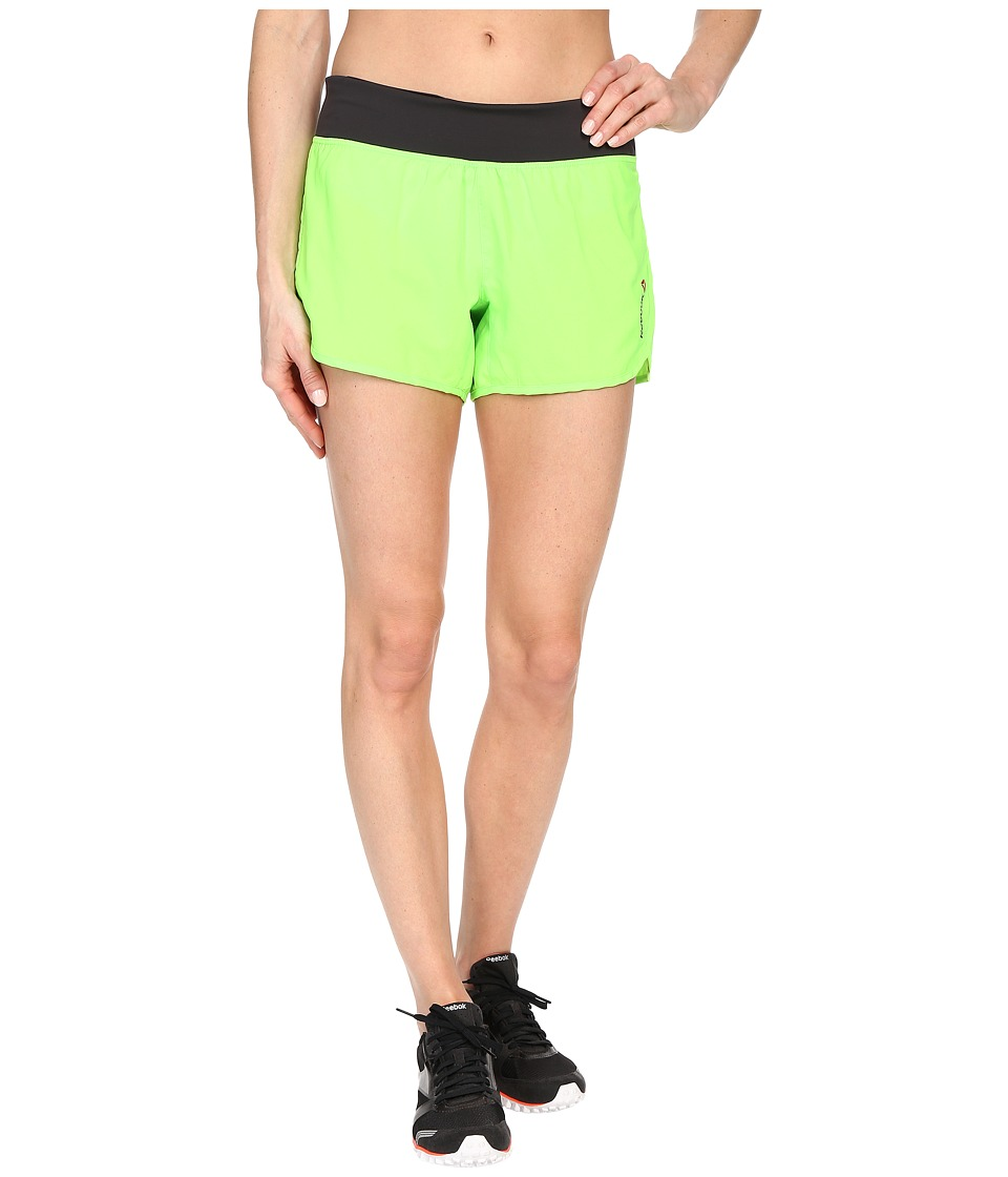 Reebok - One Series 4 Inches Woven Shorts (Solar Green) Women