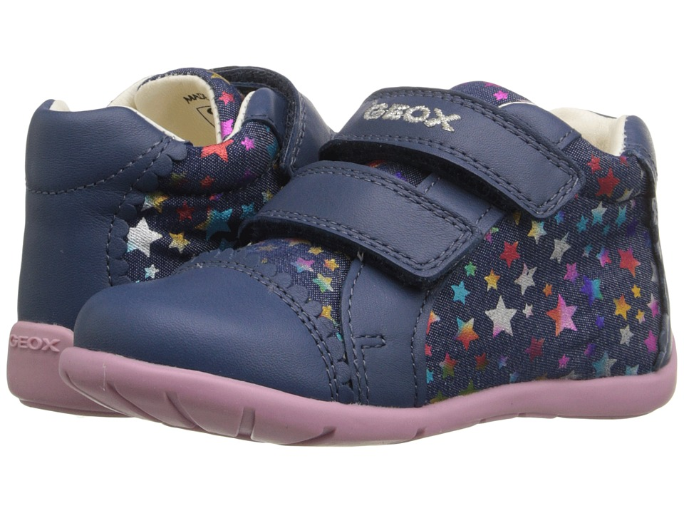 Geox Kids - Baby Kaytan Girl 23 (Infant/Toddler) (Navy/Multicolor) Girl
