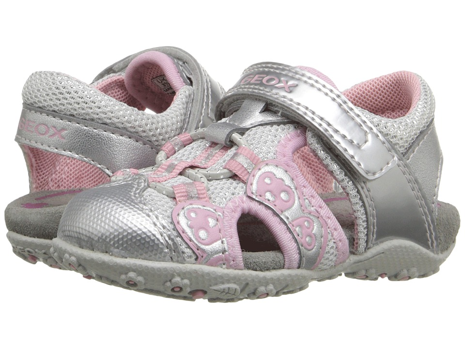 Geox Kids - Baby Roxanne 35 (Toddler) (Silver) Girl's Shoes