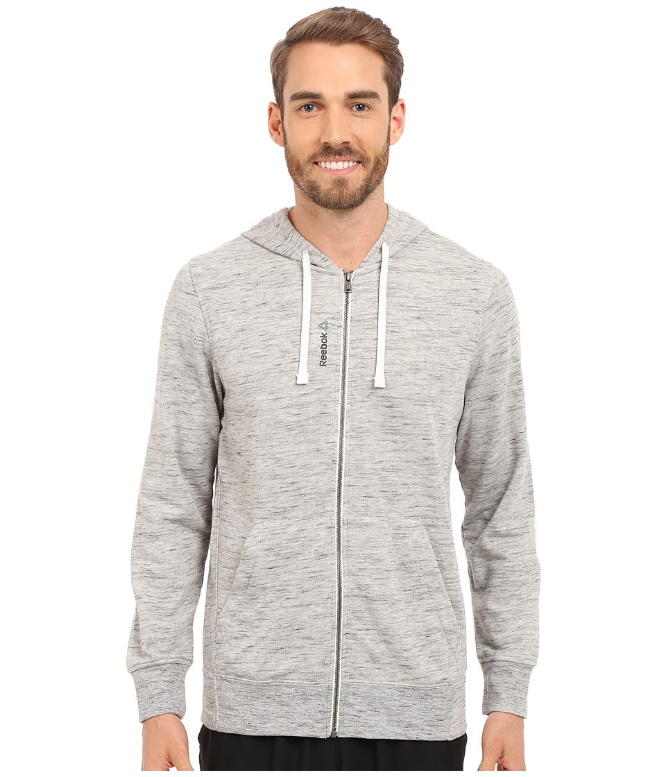 Reebok - Elements Pop Slub Full Zip Hoodie (Medium Grey Heather) Men's Sweatshirt