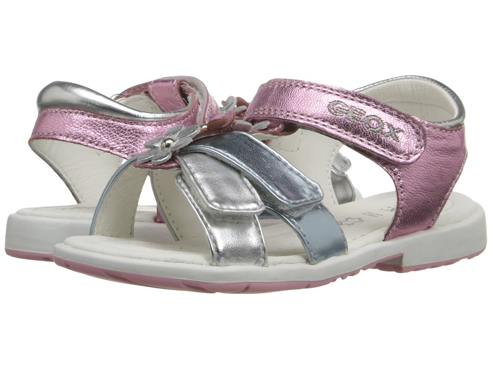 Geox Kids - Baby Verred 11 (Toddler) (Pink/Silver) Girl's Shoes