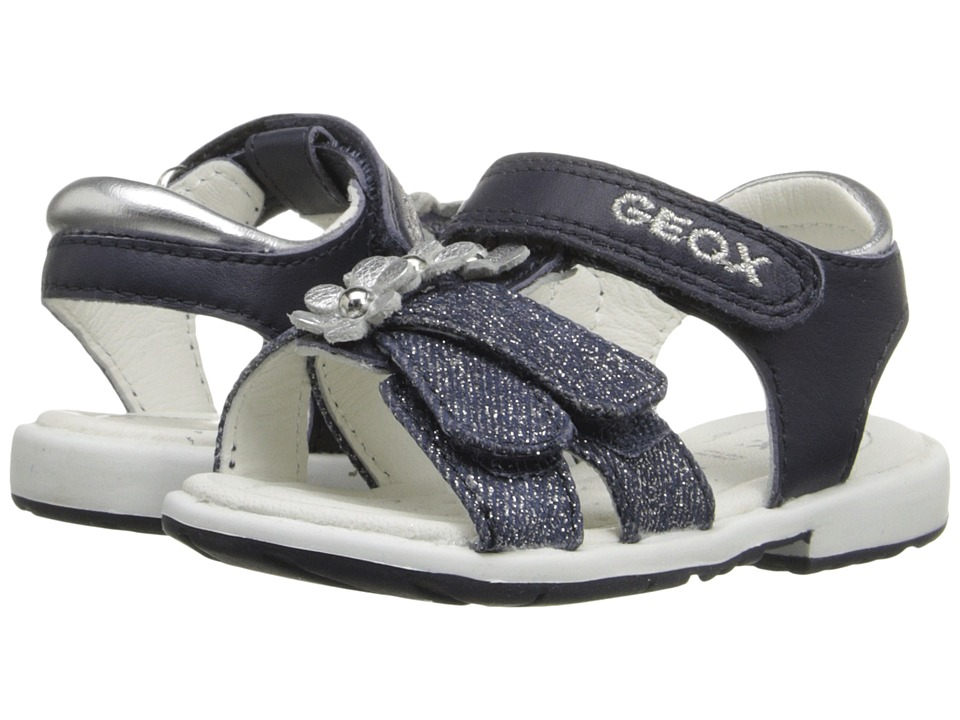 Geox Kids - Baby Verred 12 (Toddler) (Navy/Silver) Girl's Shoes