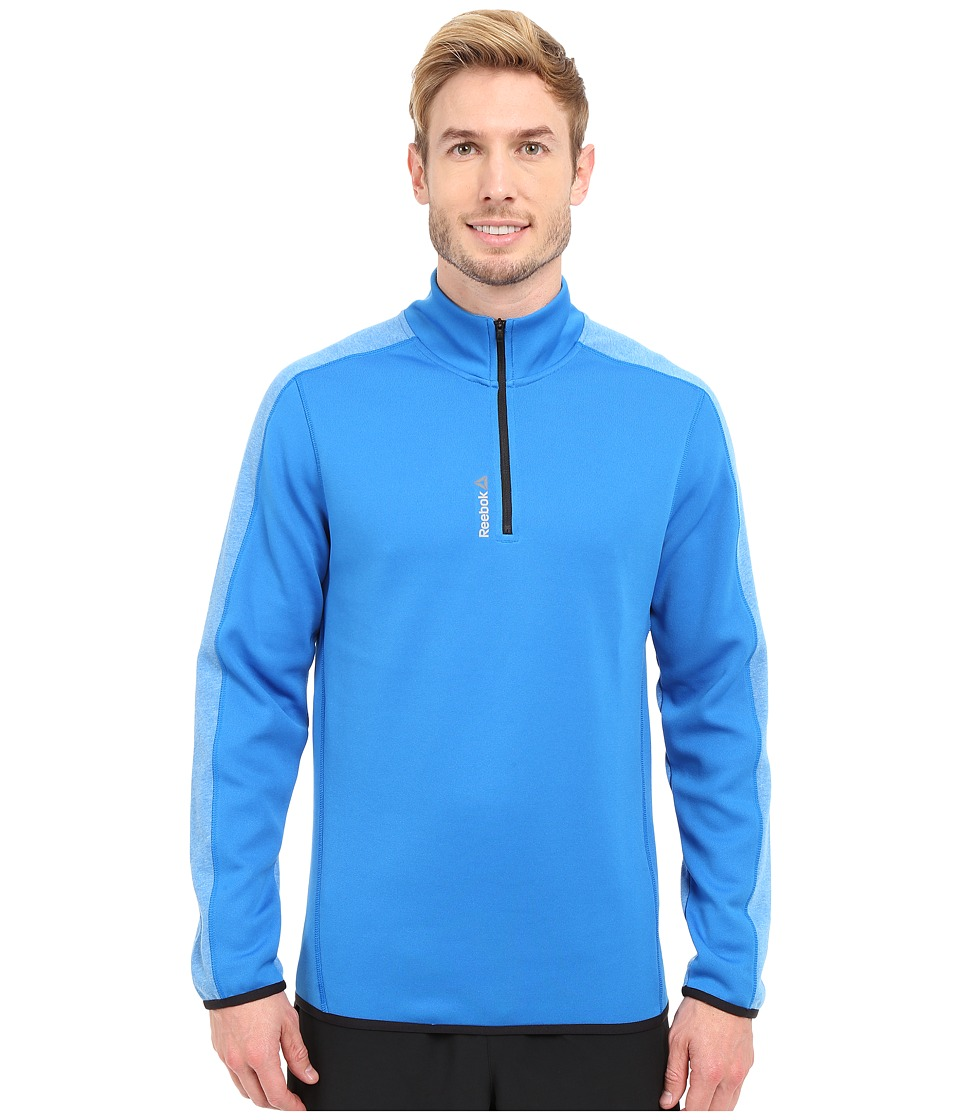 Reebok - Workout Ready Two-Tone 1/4 Zip (Blue Sport) Men's Workout