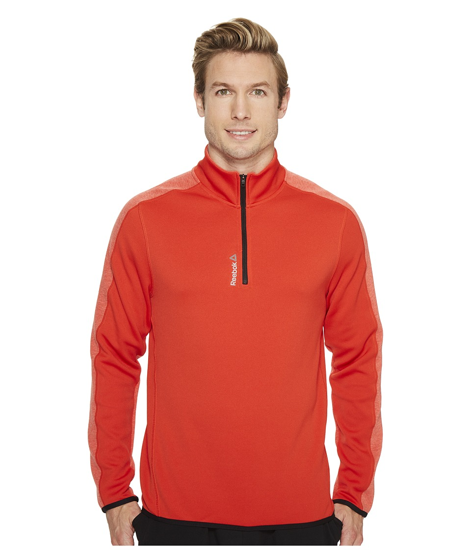Reebok - Workout Ready Two-Tone 1/4 Zip (Motor Red) Men's Workout