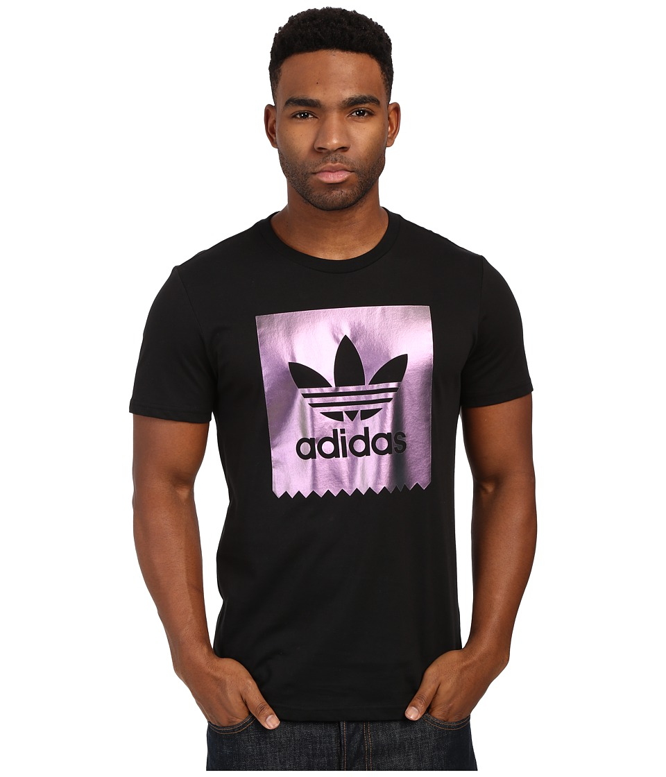 adidas Skateboarding - Blackbird Logo Fill Tee (Black/Iridescent) Men's T Shirt