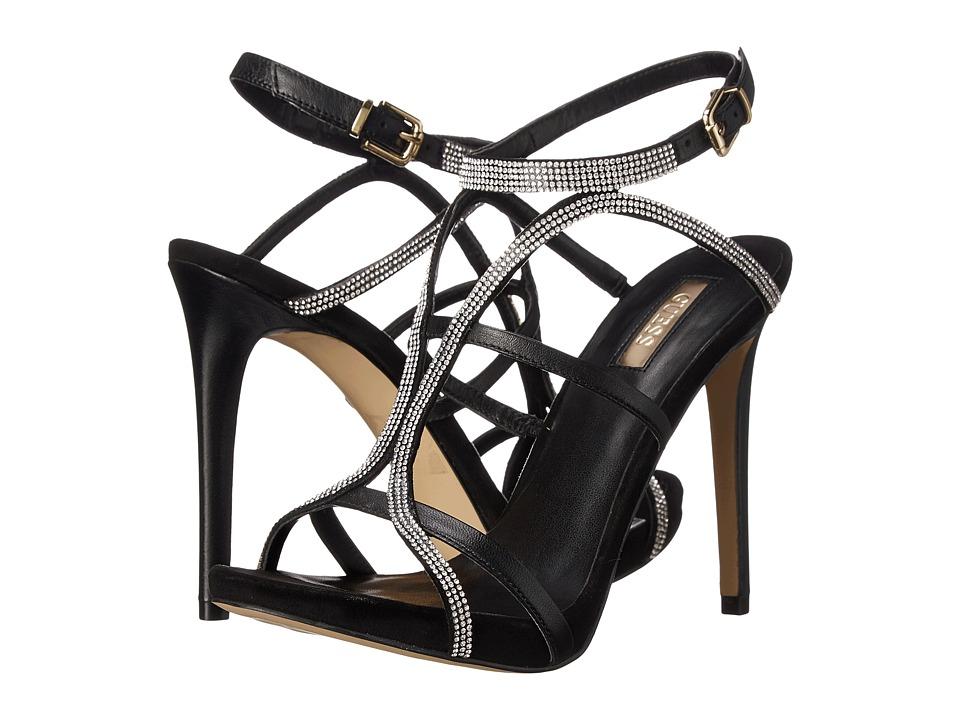 GUESS Adalee (Black Leather) High Heels