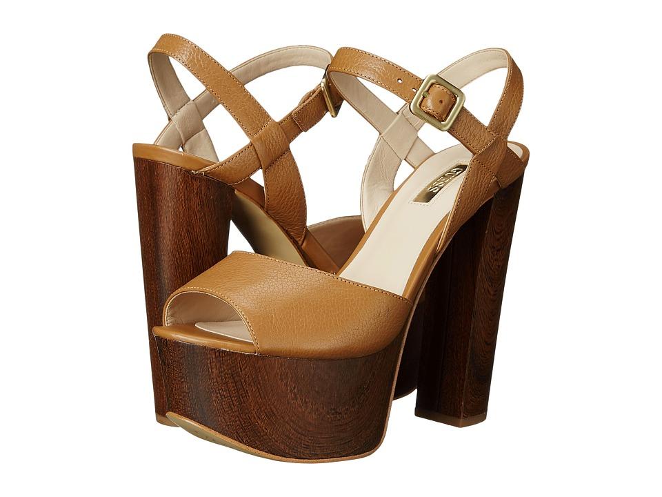 GUESS - Den (Tan Leather) High Heels