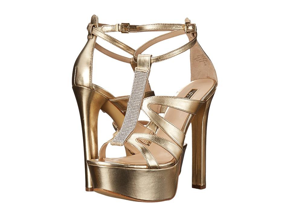 GUESS - Davanda (Gold Leather) High Heels