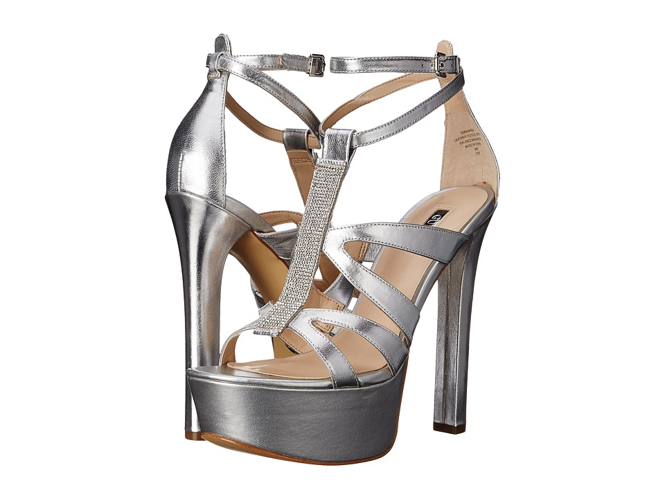 GUESS - Davanda (Silver Leather) High Heels