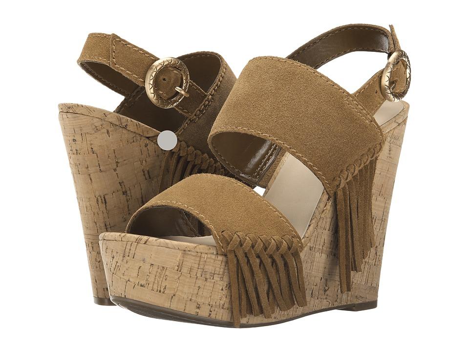 GUESS - Shanan (Tan Suede) Women's Wedge Shoes