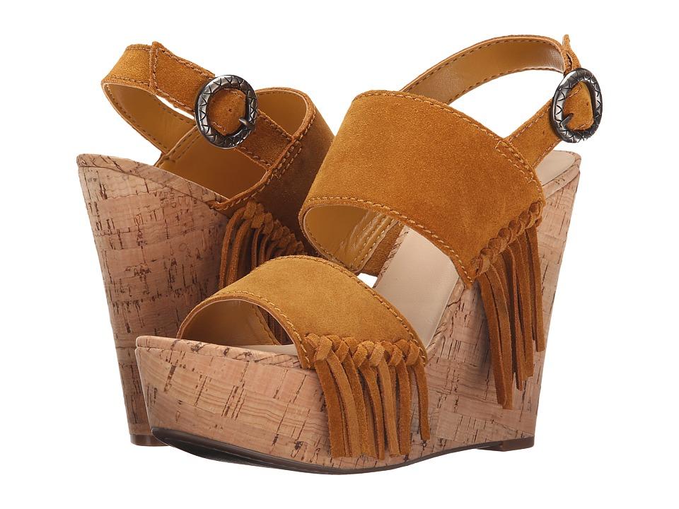 GUESS - Shanan (Yellow Suede) Women's Wedge Shoes