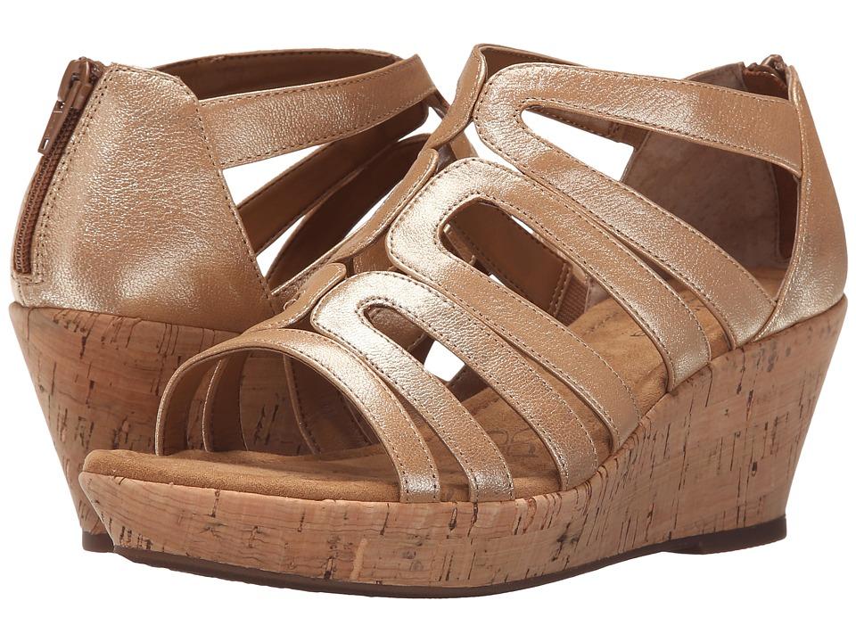 Comfortiva - Redmond (Gold Grid Metallic) Women's Wedge Shoes