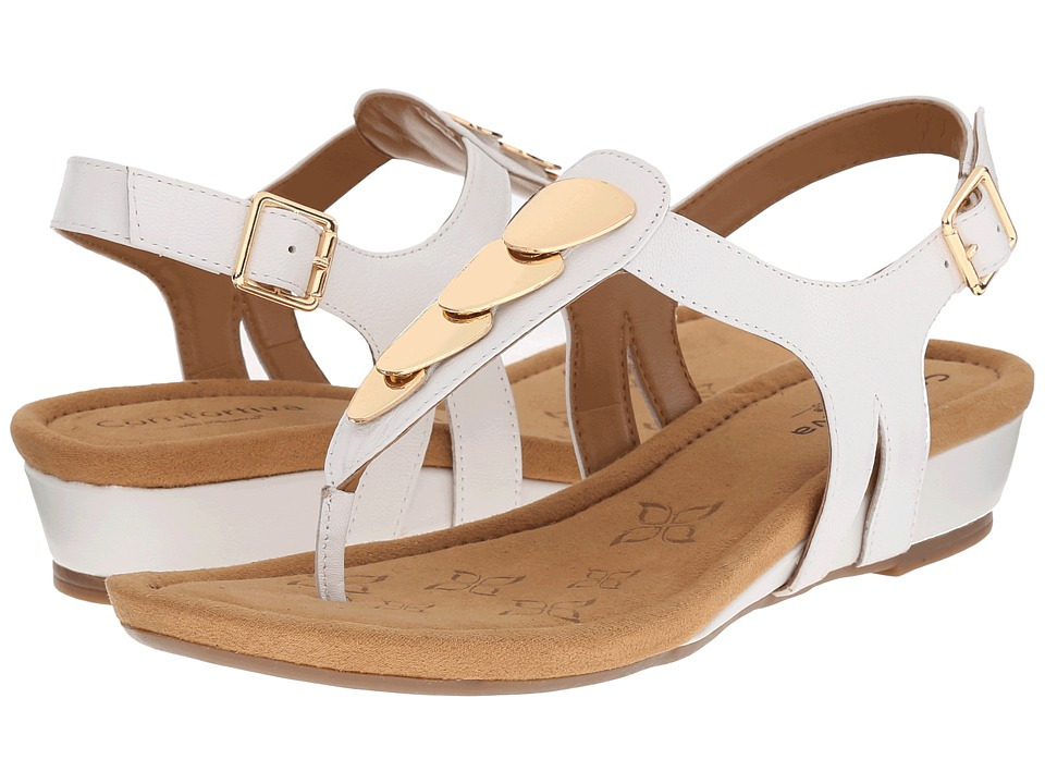 Comfortiva - Summit (White Goat Leather Pull Up) Women's Sandals