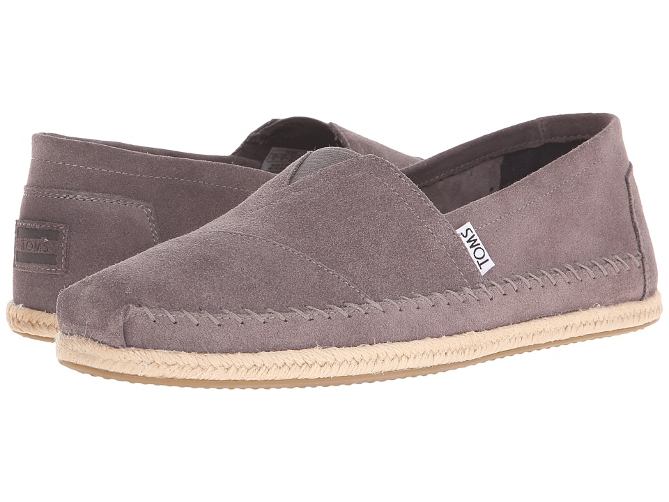 TOMS - Seasonal Classics (Grey Suede) Men's Slip on Shoes