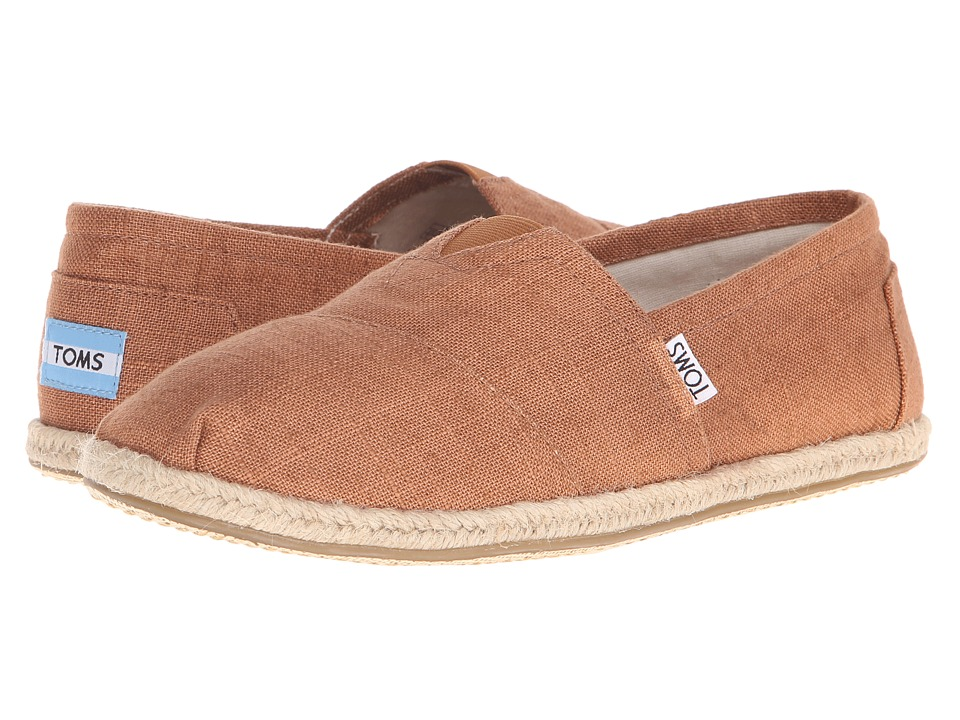 TOMS - Seasonal Classics (Rust Linen) Men's Slip on Shoes