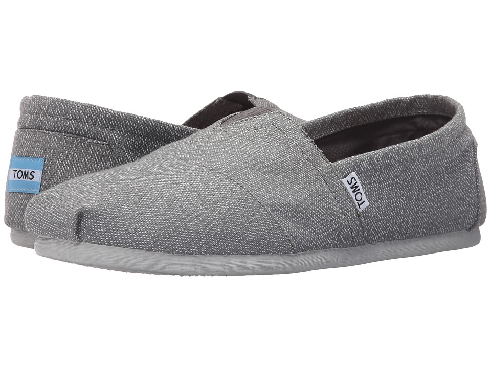 TOMS - Woven Classics (Grey/White Woven) Men's Slip on Shoes