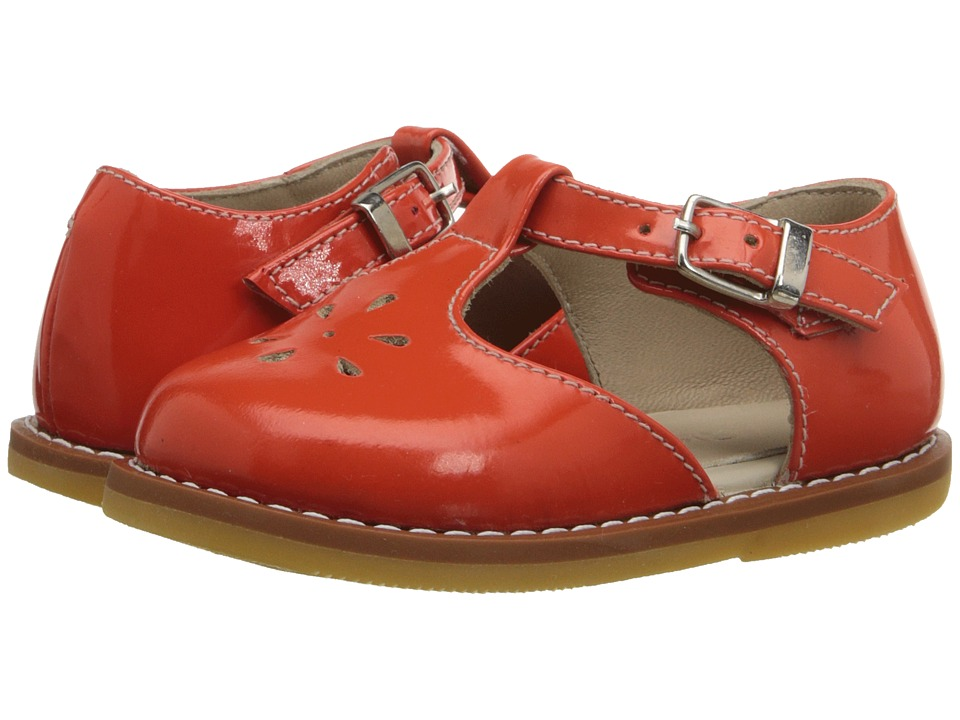Elephantito - T Strap Sandal (Toddler) (PTN Poppy Red) Girls Shoes