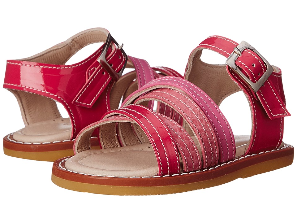 Elephantito - Crossed Sandal (Toddler) (PTN Hot Pink) Girls Shoes