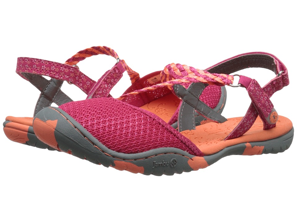 Jambu Kids - Azalea 2 (Toddler/Little Kid/Big Kid) (Fuchsia/Coral) Girls Shoes
