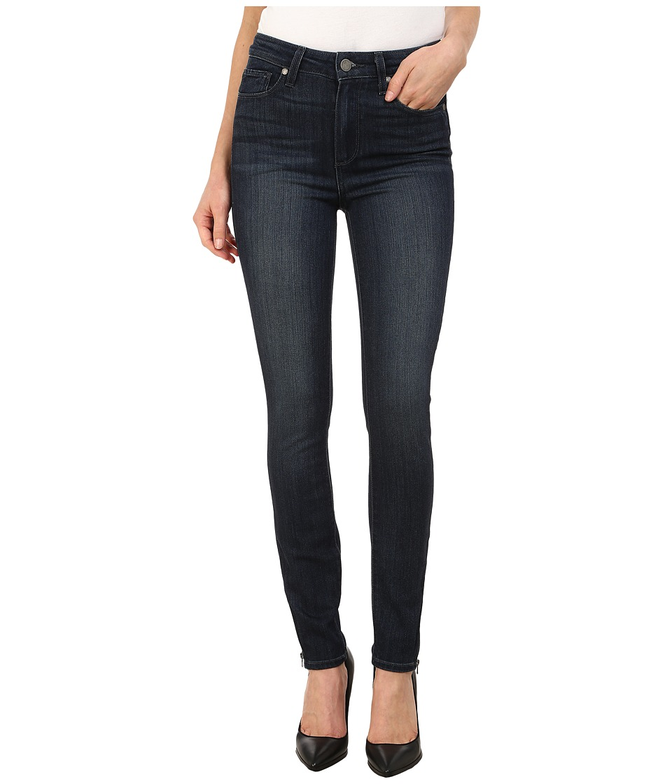 Paige - Hoxton Ankle Zip Jeans in Connelly (Connelly) Women's Jeans