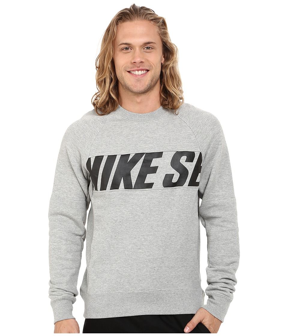 Nike SB - SB Everett Motion Crew (Dark Grey Heather/Black) Men's Sweatshirt
