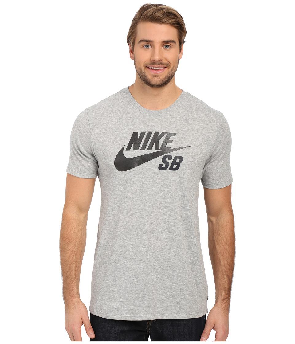 Nike SB - SB Dri-Fit Reflective Tee (Dark Grey Heather/Dark Grey Heather/Dark Graphic 1/Black) Men's Short Sleeve Pullover