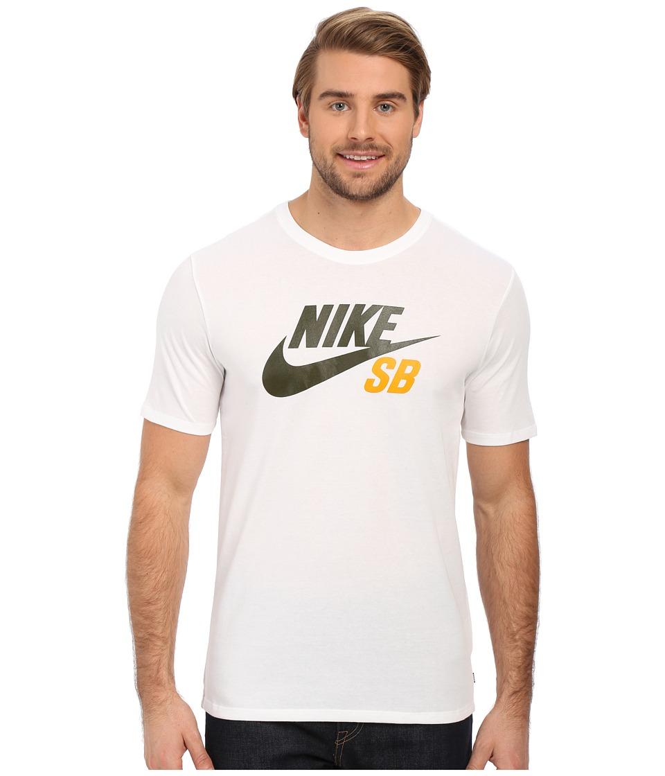Nike SB - SB Dri-Fit Reflective Tee (White/White/White/Cargo Khaki) Men's Short Sleeve Pullover