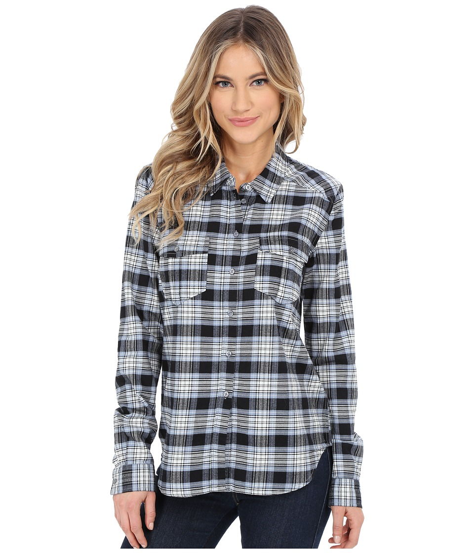 Paige - Mya Shirt (Misty Blue/Black) Women's Clothing
