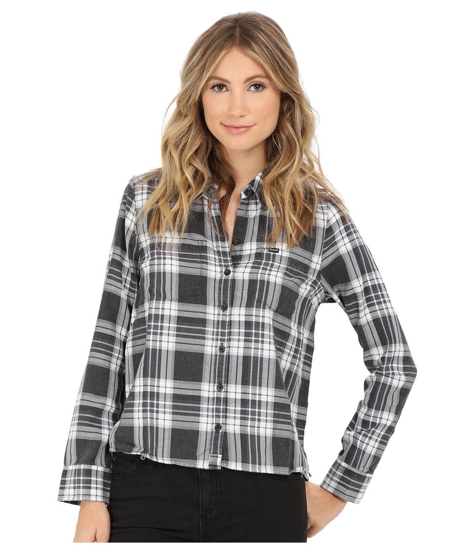 Hurley - Wilson Long Sleeve II (Black) Women's Long Sleeve Button Up
