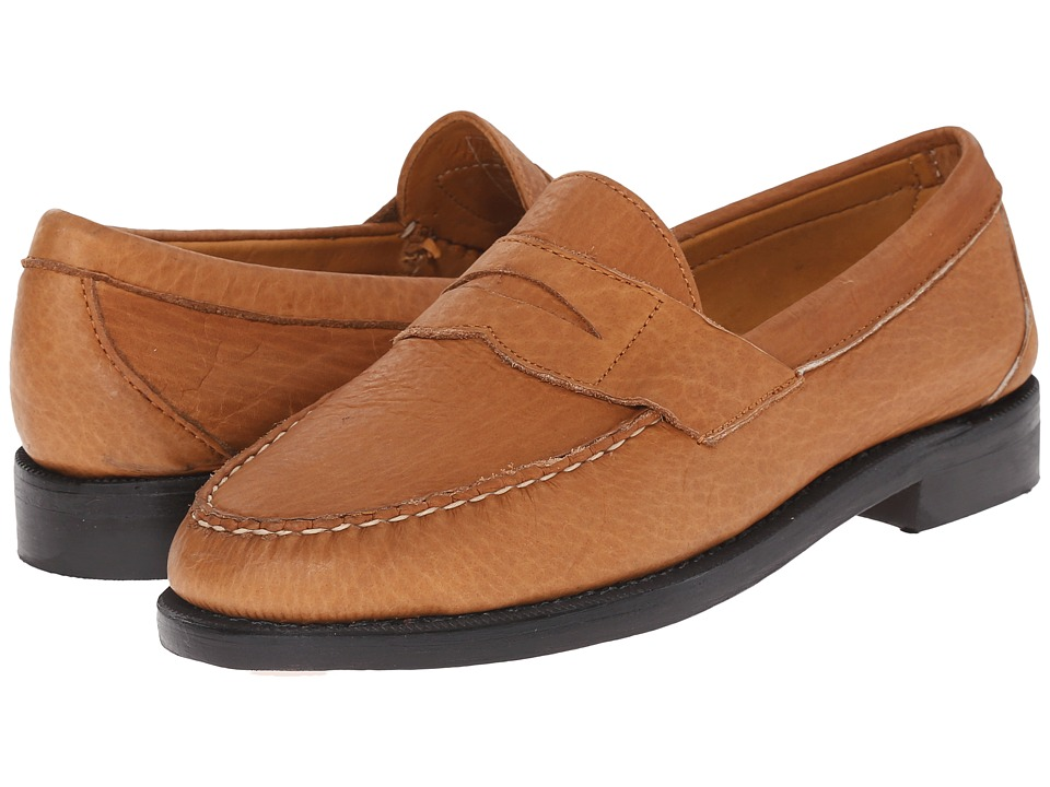 Sebago - Crest Cayman II (Golden Tan Bison Leather) Men's Slip on Shoes