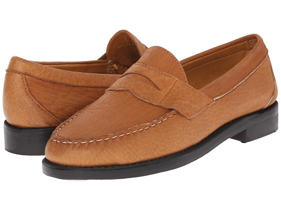 Sebago - Crest Cayman II (Golden Tan Bison Leather) Men's Slip on Shoes
