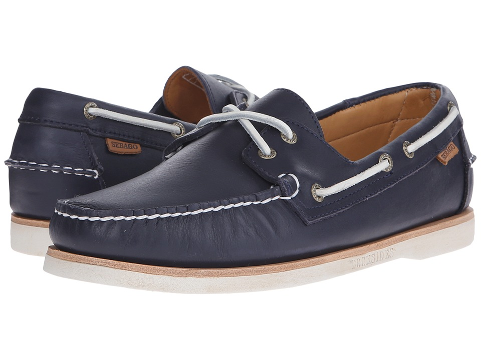 Sebago - Crest Dockside (Navy Leather) Men's Shoes