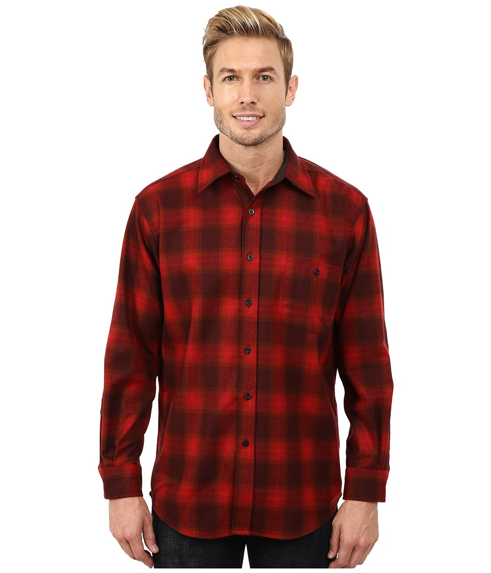 Pendleton - Long Sleeve Trail Shirt (Red/Burgundy) Men's Long Sleeve Button Up